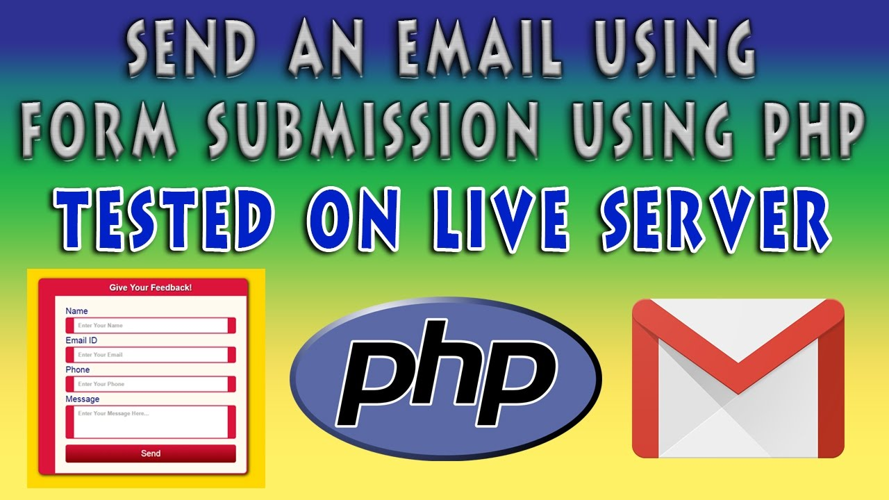 Send An Email On Form Submission Using PHP | Contact Form Using ...