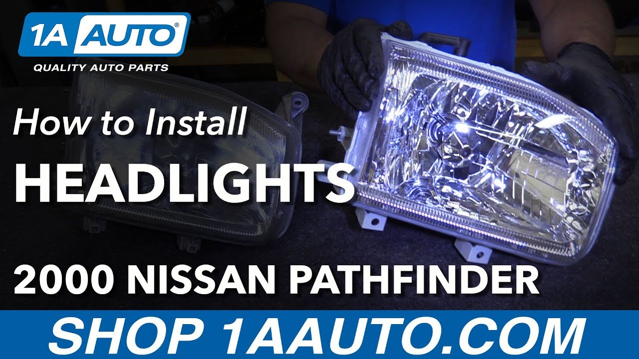 How To Replace Headlights 00 04 Nissan Pathfinder