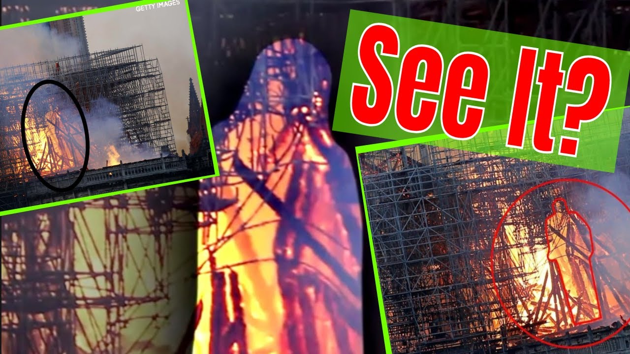 Figure in the Flames at Notre Dame Cathedral. Do you see it? by: PSPR Paranormal Pursuit