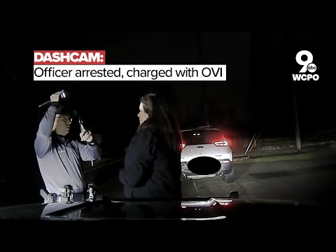 Dashcam: Cincinnati officer arrested, charged with OVI