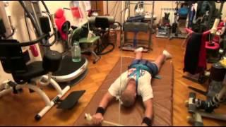 12 Блочный тренажер лежа на животе  ЛФК для инвалидов(Универсальная система реабилитации всех видов паралича (вследствие нейротравм: ЧМТ, травм позвоночника..., 2013-05-22T03:42:07.000Z)