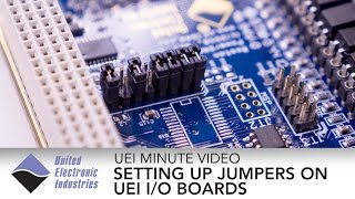 Setting Up Jumpers | UEI Minute Video