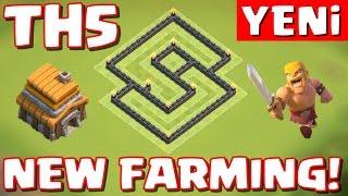 5.Seviye Köy Binası - Yeni Güncelleme İçin - Ganimet Koruma Düzeni Clash of Clans ( th5 farming )