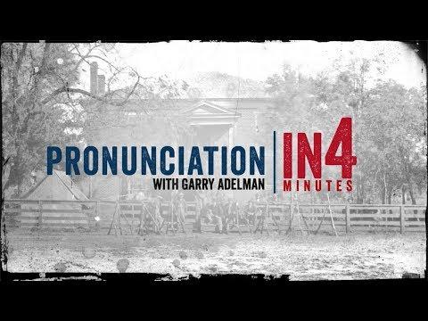 Civil War Pronunciation: The Civil War In Four Minutes