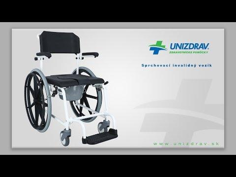 Sprchovací invalidný vozík - VIDEOMANUÁL