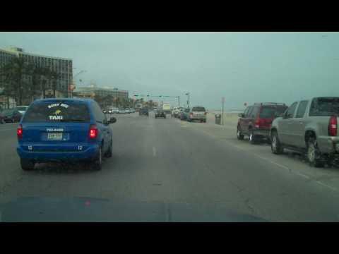 Galveston Texas Seawall Blvd Driving East-TheZuell.MP4