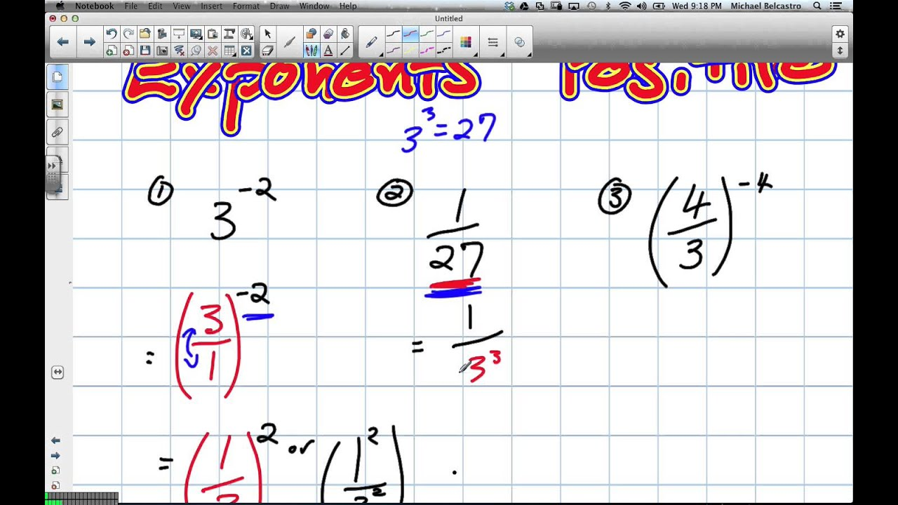 Making Negative Exponents Positive Grade 9 Academic Lesson 5 6 6 19 13