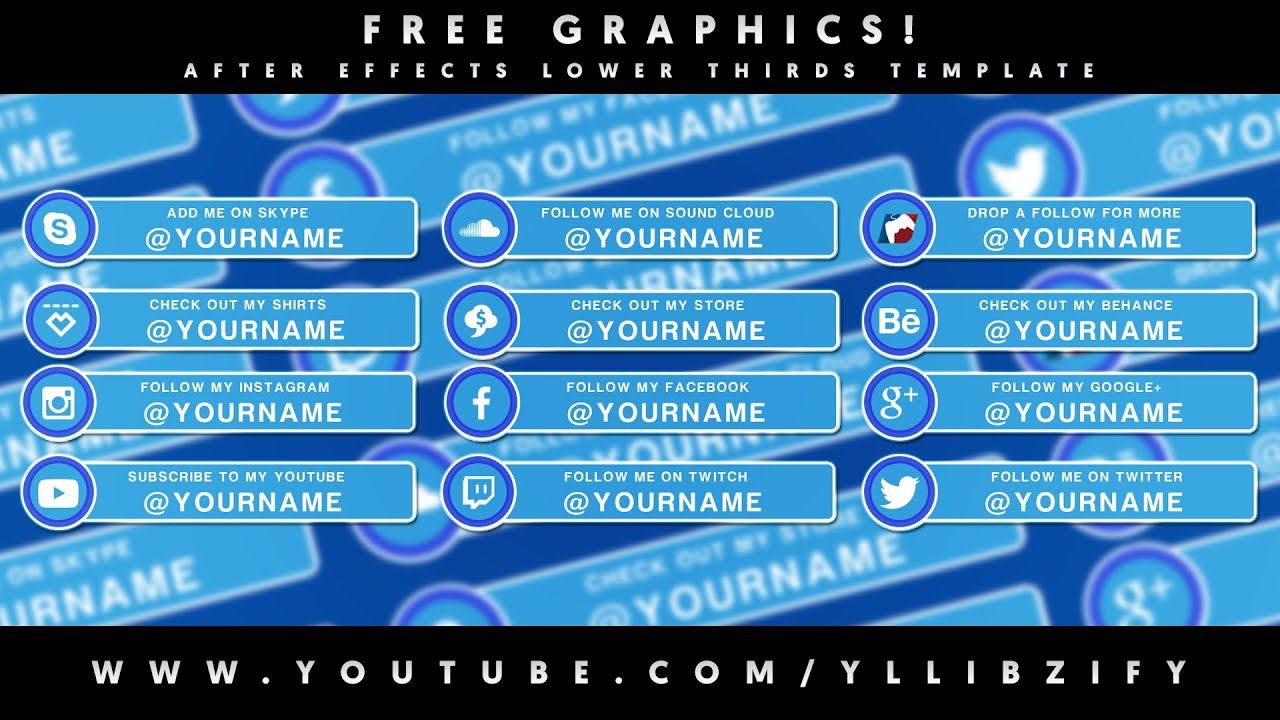 Free Graphics After Effects Video Lower Thirds Template Pack With Tutorial By YLLiBzify