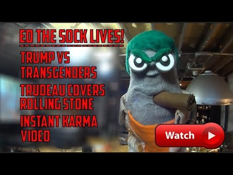 Ed the Sock LIVES - Trump & Transgenders, Trudeau & Rolling Stone & More