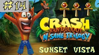 Crash Bandicoot N. Sane Trilogy - GOLD RELIC - Sunset Vista - Level 14 [GUIDE]