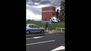 Kent Air Ambulance Taking Off In Chatham Kent