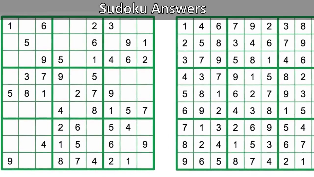 Daily Sudoku Answers Youtube