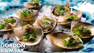 Gordon Ramsay Helps Prepare Clams In Vietnam | Gordon\'s Great Escape