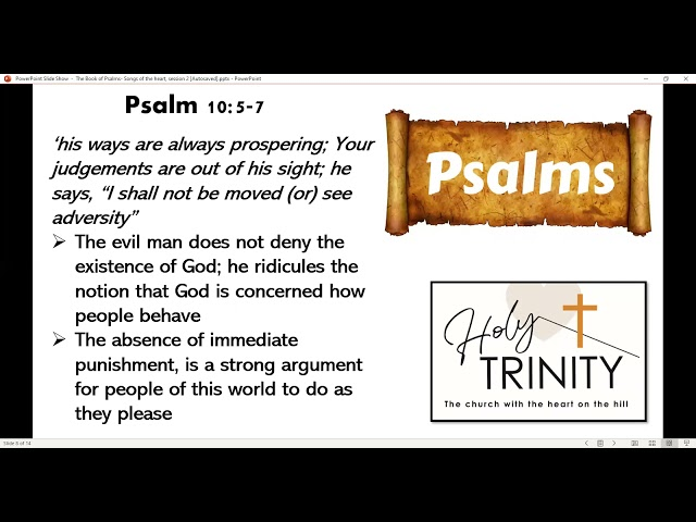 Bible Study on the Book of Psalms: Songs of the heart: session 2