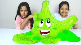 شفا و توأمتها يصنعون سلايم عملاق !! Shfa and her twin make a giant slime