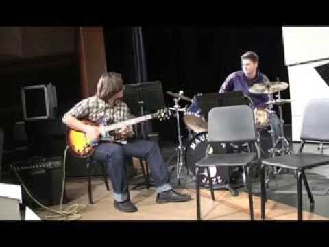 Kyle Roberts age 15 - 1/10/14 Jam Session with Mitch Paulson at Mauston HS