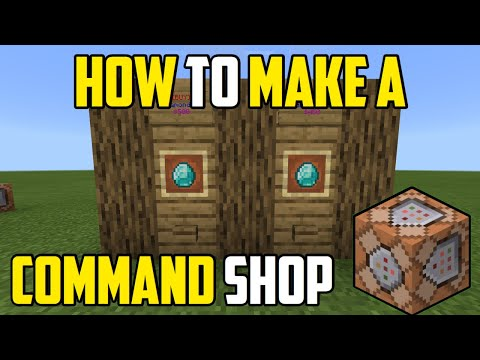 How To Make A Command Block Shop In Minecraft Xbox/PE