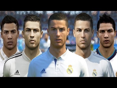 Cristiano RONALDO from FIFA 04 to FIFA 17 (vs Real Face Comparison)