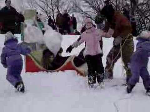 Pawnee Tribe Sled at Winter Camp Out 2008