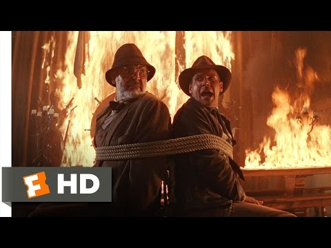 Indiana Jones and the Last Crusade (3/10) Movie CLIP - Fiery Escape (1989) HD