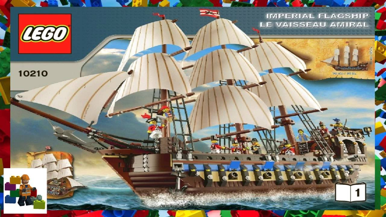 Lego Instructions Pirates 10210 Imperial Flagship Book 1