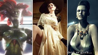 10 Female Monsters in Resident Evil Games (Lady Dimitrescu Tall Lady, Alexia, Hilda Hidalgo, Lisa)