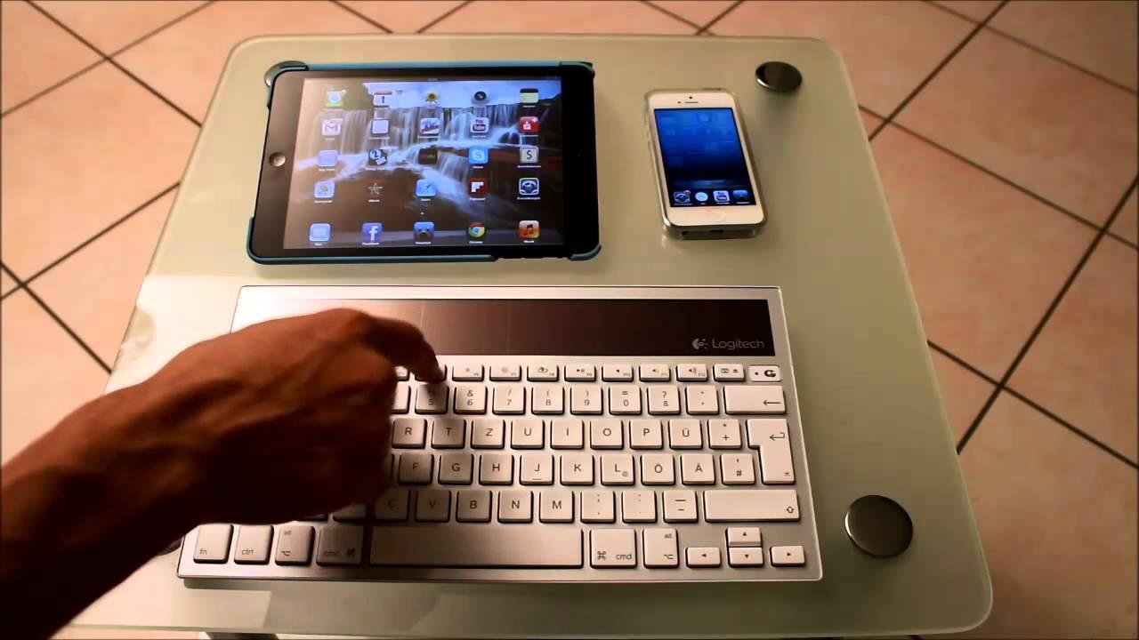 logitech k760 wireless solar keyboard f r iphone ipad mac review youtube. Black Bedroom Furniture Sets. Home Design Ideas