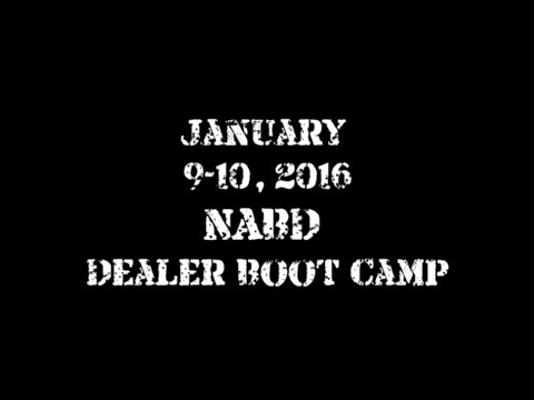 January 9-10, 2016 NABD Dealer Boot Camp Last Chance!