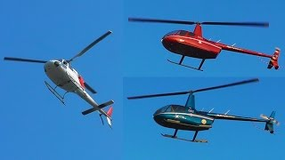 2x Robinson R66 And Eurocopter As355 Landing At Skiathos - Helicopter Formation Plane Spotting