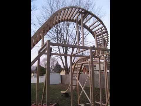 my backyard roller coaster construction slideshow youtube