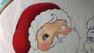 Pintura En Tela Santa Claus # 1 Con Cony