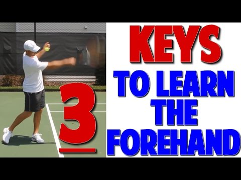 Beginner Forehand Tennis Lesson: 3 Keys (Top Speed Tennis)