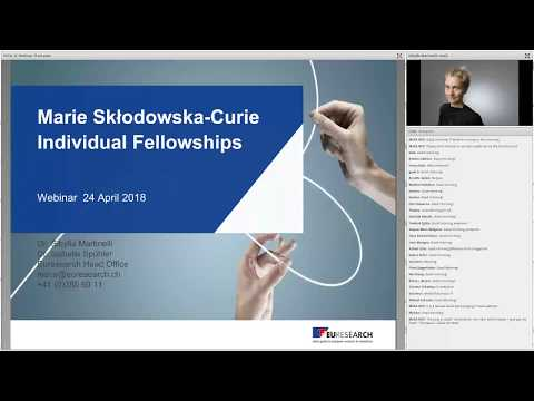 Euresearch Webinar Horizon 2020 - Individual Fellowships of the Marie Skłodowska-Curie Actions 2018