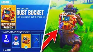 "FREE NEW ""Rust Bucket"" BACK BLING For ALL Fortnite PLAYERS! - NEW Fortnite Battle Royale UPDATE!"