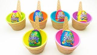 6 Colors Eggs Dinosaur Eggs Interesting Video Toys For Children