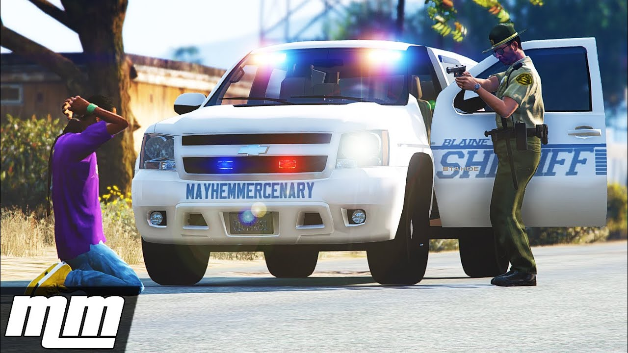 GTA 5: LSPDFR Sheriff Patrol - Fan Made Skin!