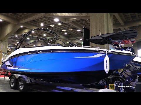 2017 Yamaha AR240 Twin Engine Motor Boat - Walkaround - 2017 Montreal Boat Show