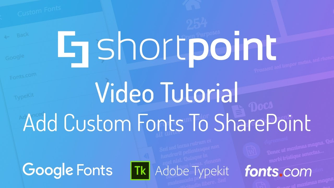 how to add fonts youtube