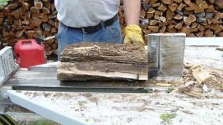 Kinetic Flywheel Wood/log Splitter.