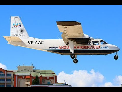 Anguilla Air landing at SXM St Maarten