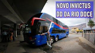 Viagem de ÔNIBUS na RIO DOCE | Rio de Janeiro para Governador Valadares no Novo INVICTUS DD da Comil