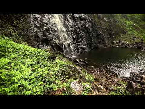 """Mystical Falls"" 6 HOUR Video Background w/Nature Sounds Napali Coast Kauai HD Nature 1080p"