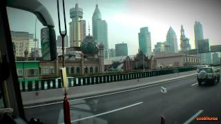 Entrance to Shanghai - Inner Ring Road - Trip to China part 43 - Full HD travel video