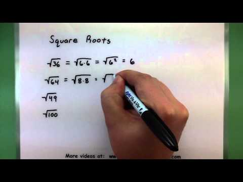 Basic Math - Square Roots