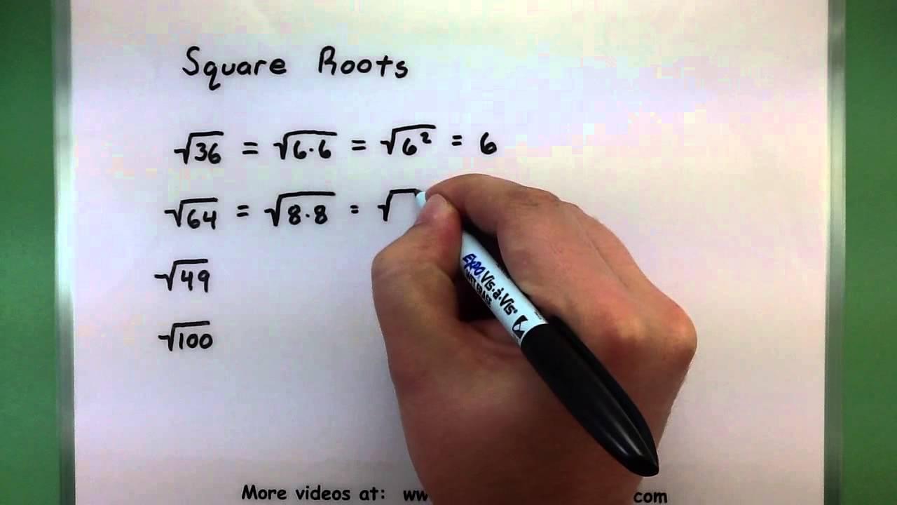 Basic Math - Square Roots