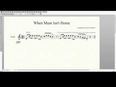 When Mum Isn't Home - Violin