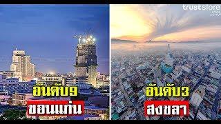 10 จังหวัดที่เจริญที่สุดในประเทศไทย 2018