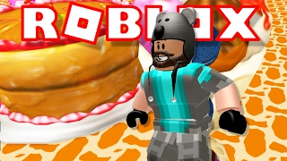 SLIDING DOWN A TONGUE?!?! | Escape Candy World Obby | ROBLOX