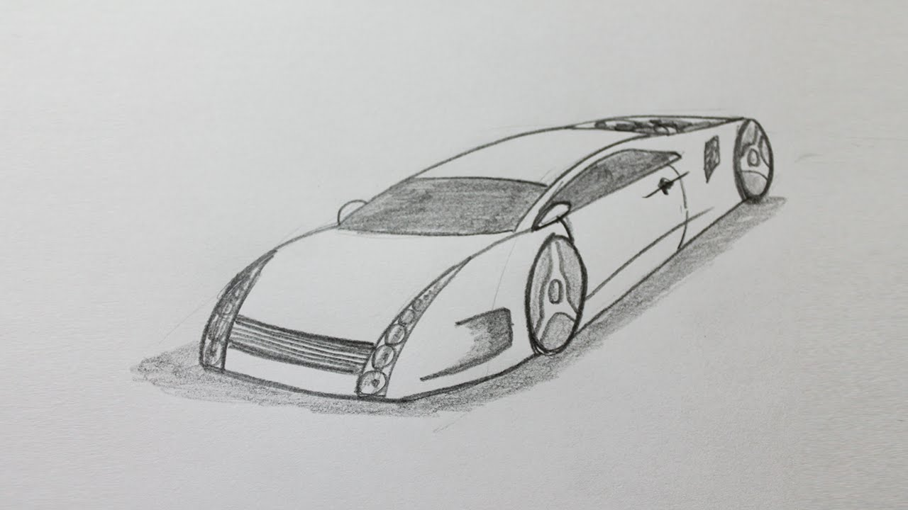How To Draw A Sports Car Step By Step Easy Youtube