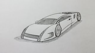 How to draw a sports car step by step easy